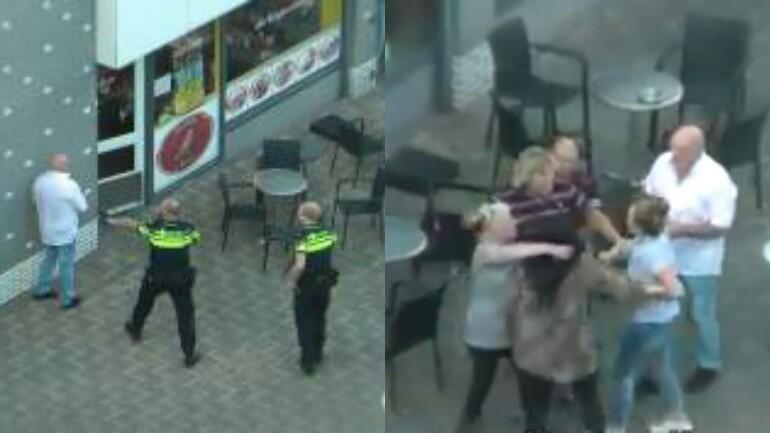 فيديو: شجار بدء بين النساء - ينتهي بالقاء القبض على الرجال في Leiden
