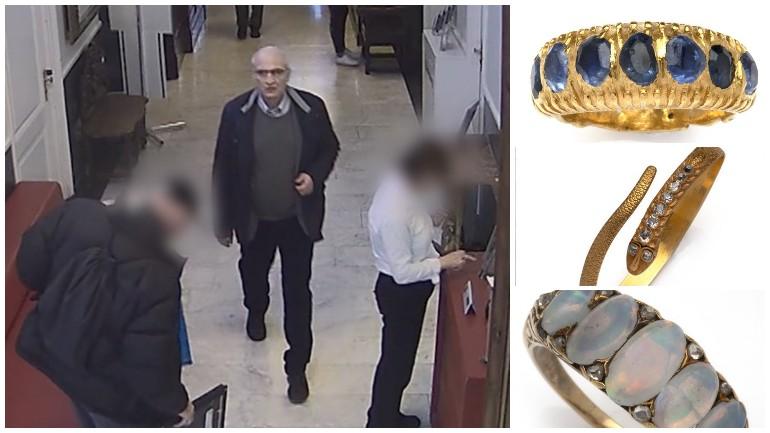 لص يتمكن من سرقة مجوهرات باهظة الثمن بسهولة من دار مزادات في دانهاخ