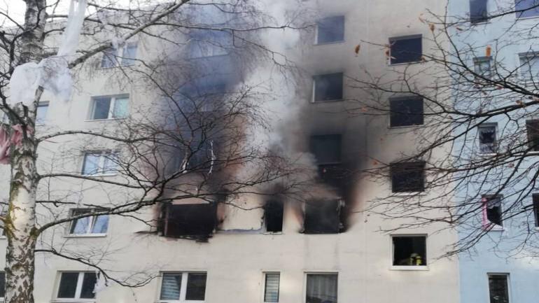 وفاة شخص واصابة 15 أخرين بجروح في انفجار بمبنى سكني في ألمانيا