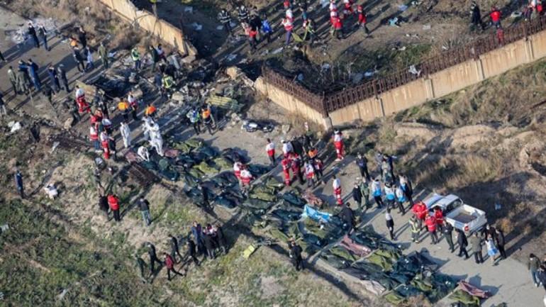 تحطم طائرة ركاب أوكرانية في طهران و وفاة حوالي 170 شخص كانوا على متنها