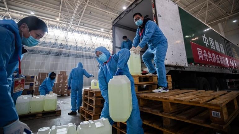منطقة مطار سخيبول أصبحت مركزاً لتأمين الإمدادات واللوازم الطبية لمدينة ووهان الصينية