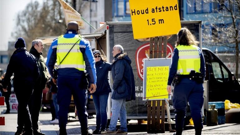 الشرطة الهولندية تصدر 250 غرامة على المخالفين لقواعد مكافحة فيروس كورونا