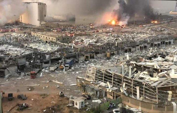 انفجار مرفأ بيروت ناجم عن انفجار مخزون نترات الأمونيوم