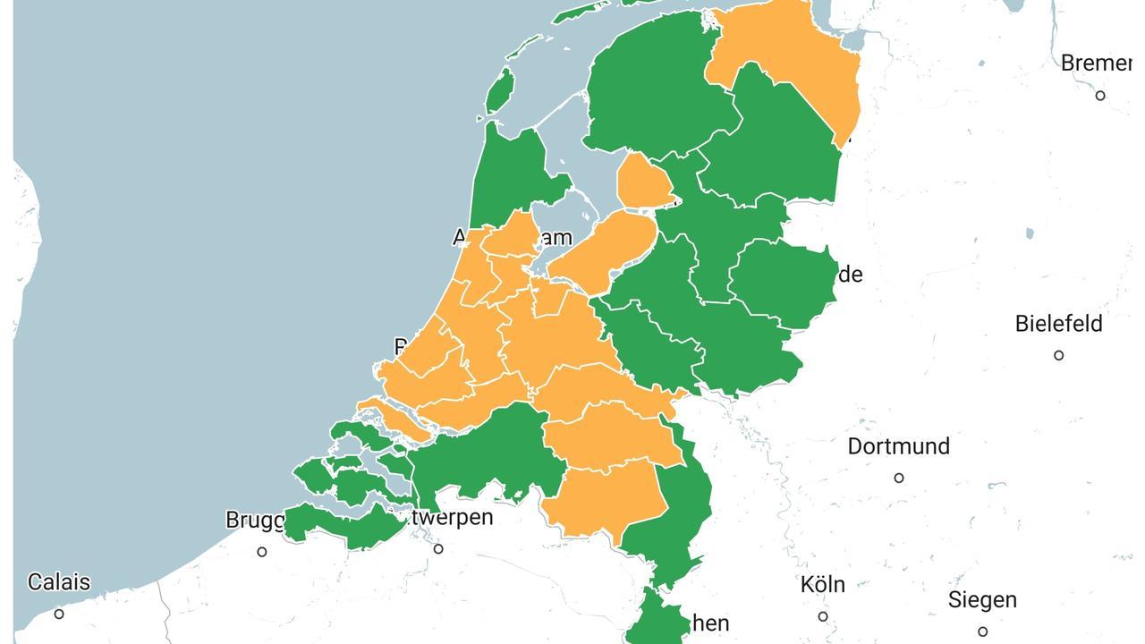 هذه هي الإجراءات الإضافية التي ستُطبق في مناطق الخطر الجديدة في هولندا